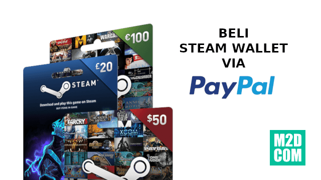 Kode voucher Steam Wallet dari Paypal