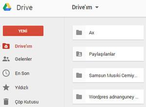 Google Drive dökümanlar