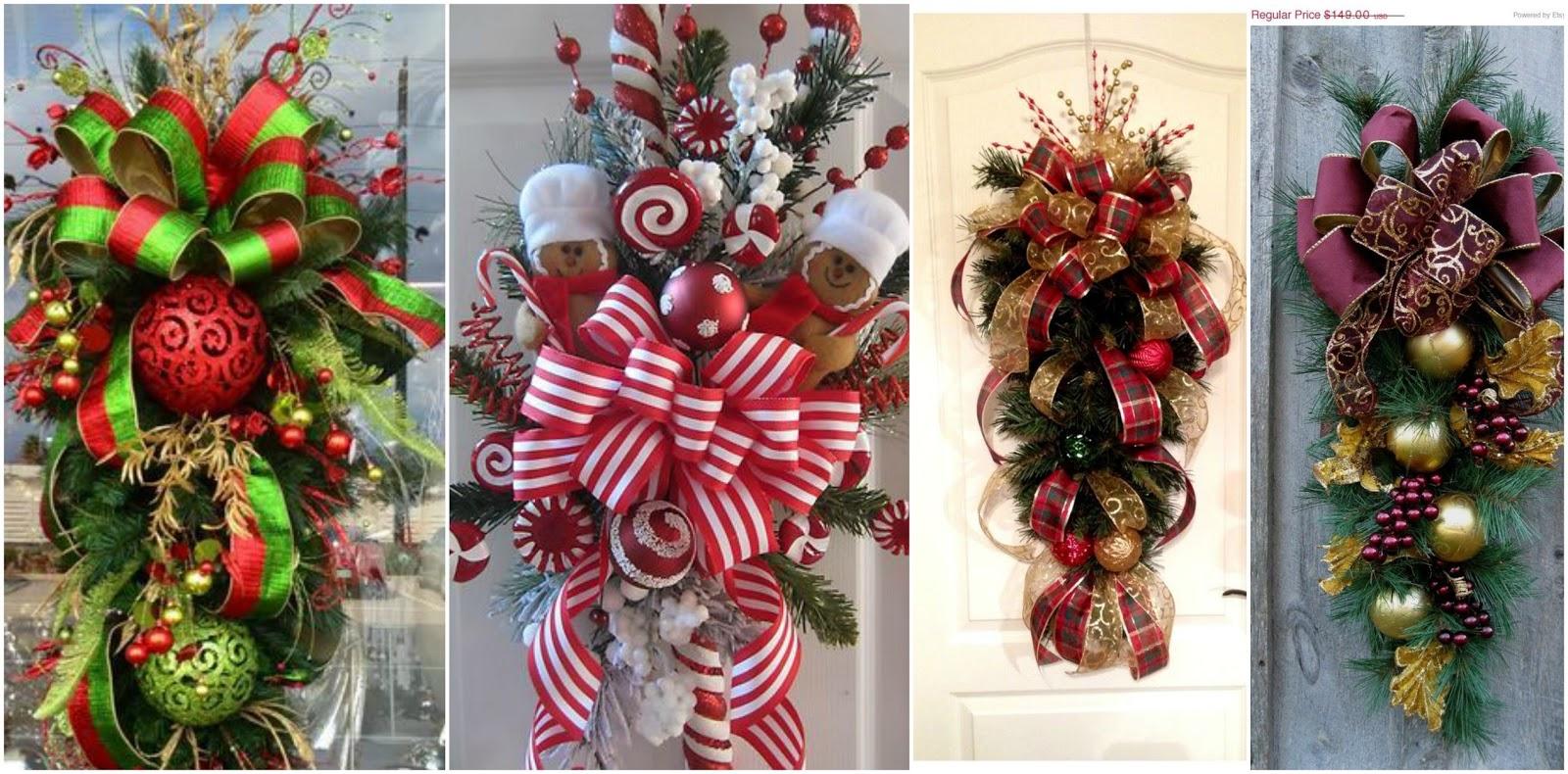 Tutorial haz mo os decorativos para decorar la puerta en - Decorativos para navidad ...