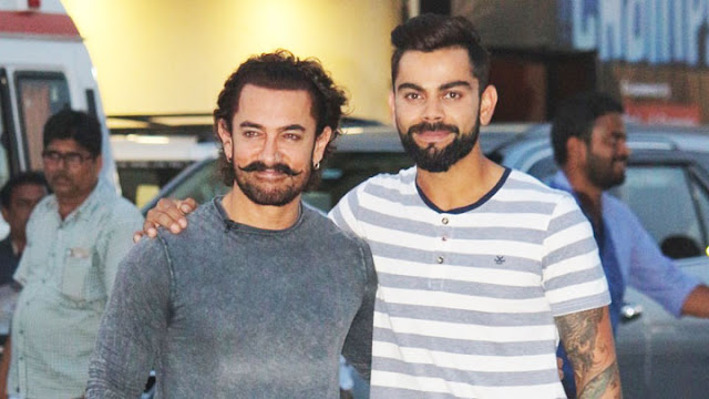Aamir Khan and Virat Kohli