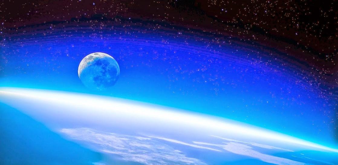 La Tierra, la Luna y la atmosfera