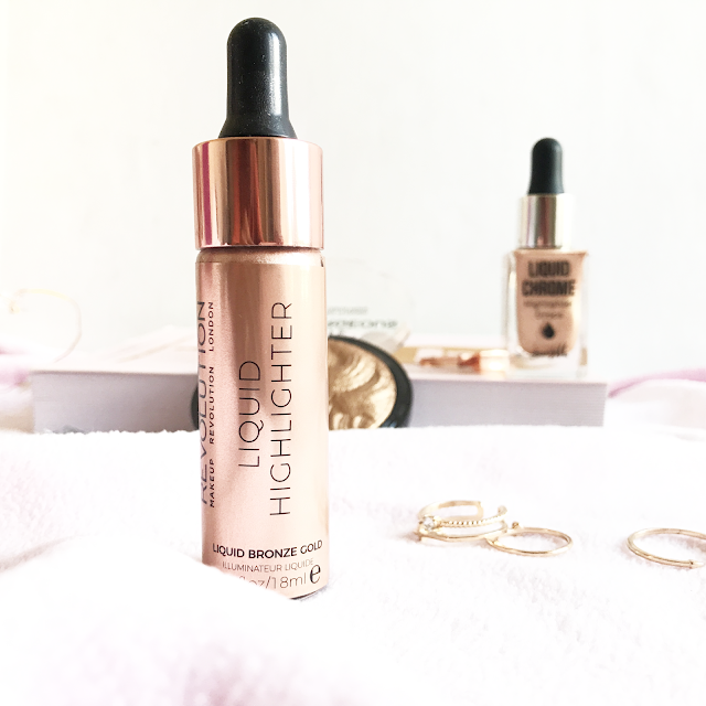 barry m  highlighter drop review and makeup revoution liquid highlighter review