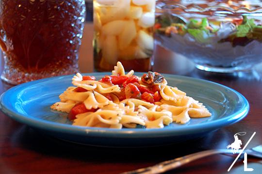 spicy bow tie pasta