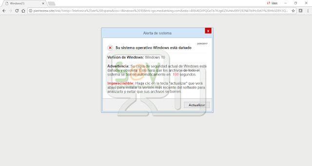Pierrecrew.site pop-ups (Falso soporte)