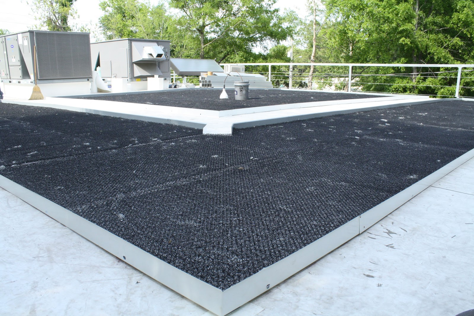 Kevin Songer Green Roof System Installed Ready For Soil