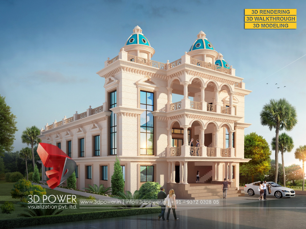 Marriage Hall Front Elevation Designs : D animation rendering walkthrough interior