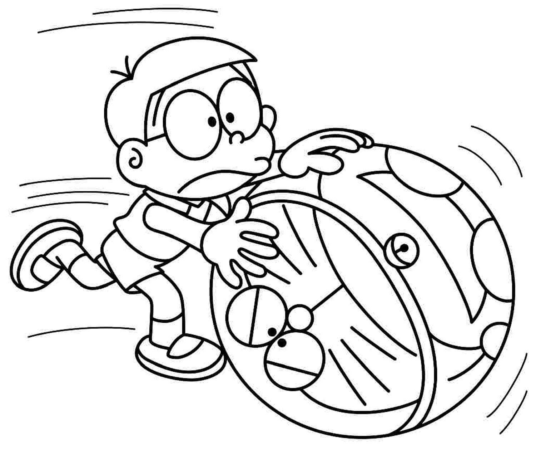 Tranh tô màu Nobita ngộ nghĩnh