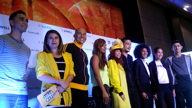 Sun Life event's hosts Boom Gonzales and Tippy dos Santos, Rovilson, Bubbles, Tess, Piolo, Coach Rio, Jaymie and Inigo.