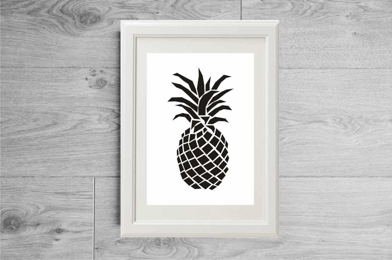 illustration-ananas-noir-et-blanc