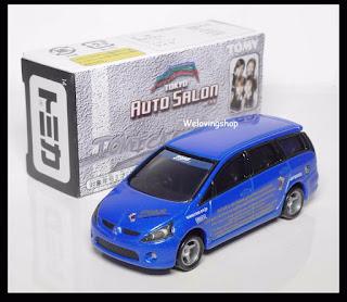 TOMICA TOKYO AUTO SALON LOTTO 6 MITSUBISHI GRANDIS 1/64 TOMY Diecast Car BLUE
