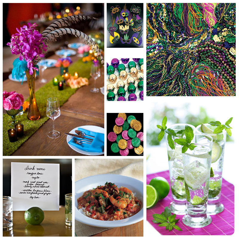 Mardi Gras Wedding Ideas: Your Wedding Support: GET THE LOOK