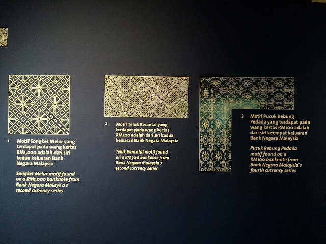 Fig 7 : The intricate patterns and designs on Malaysia's banknotes