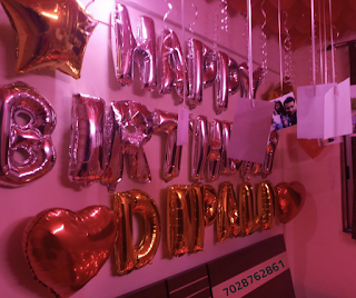 romantic decoration with balloons