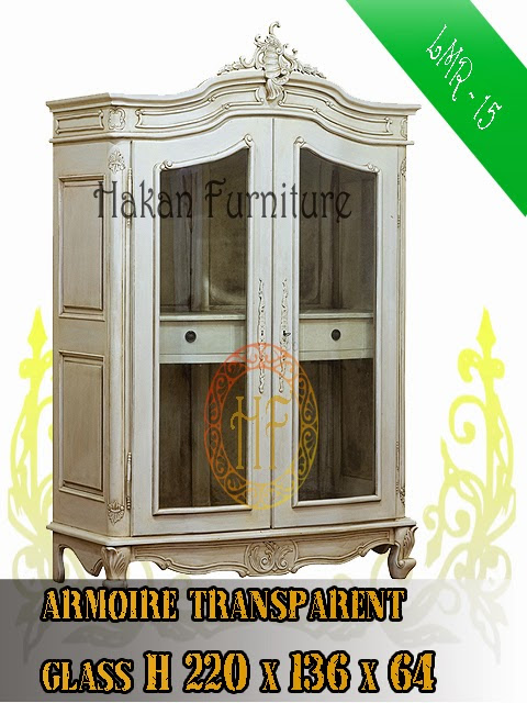 Armoire Transparent Glass H220x136x64