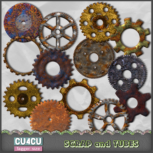 Steampunk Gears (CU4CU) .Steampunk%2BGears_Preview_Scrap%2Band%2BTubes