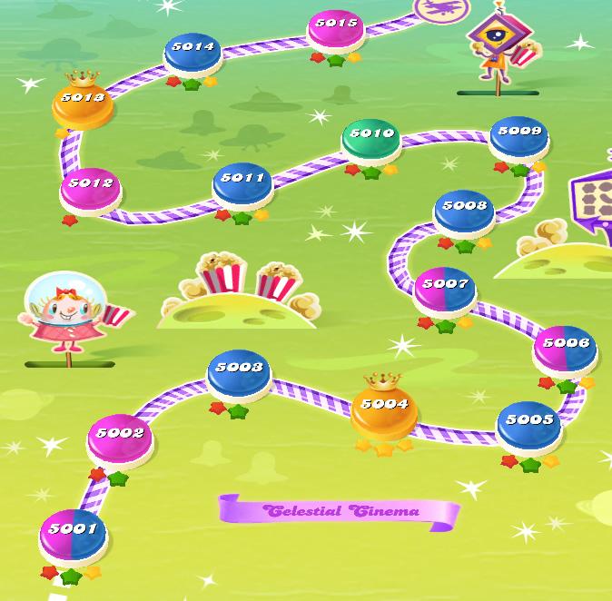 Candy Crush Saga level 5001-5015