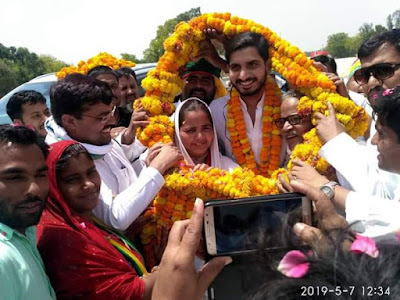 Aditya Yadav Election 2019 Road Show Uttar Pradesh