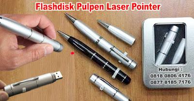 Jual USB Promosi - Flashdisk Pulpen Laser Pointer Murah
