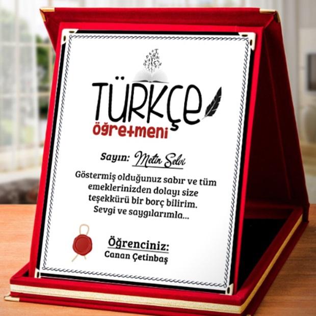 Türkçe öğretmenine anlamlı hediyeler