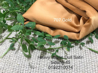 TIPS PENJAGAAN FABRIC DULL SATIN