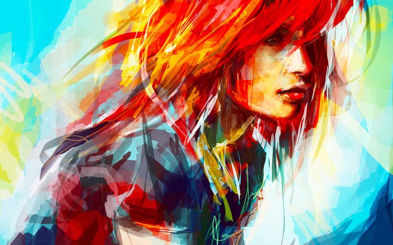 pintura contemporánea de una mujer