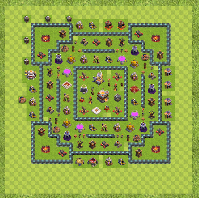 War Base Town Hall Level 11 By DJDuck (Hi TH 11 Layout)