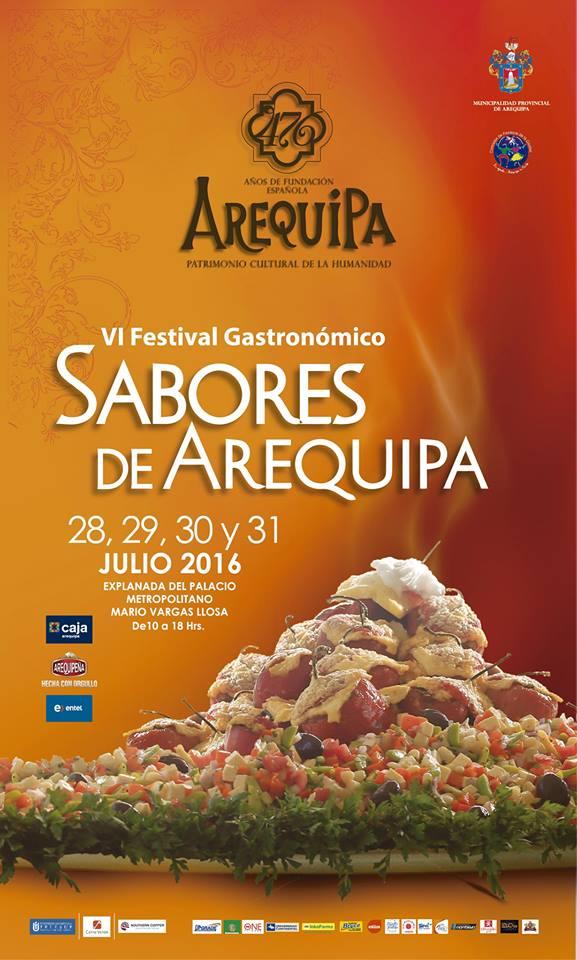 Festival Sabores de Arequipa, del 28 al 31 de julio