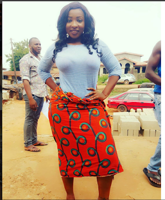 Controversial Actress, Anita Joseph Shows Off Her Massive Curves In Jean