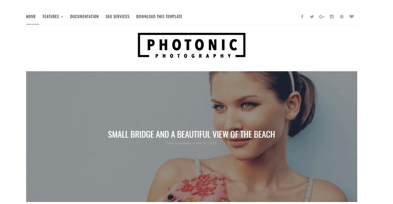 Photonic Responsive Photography Blogger Template