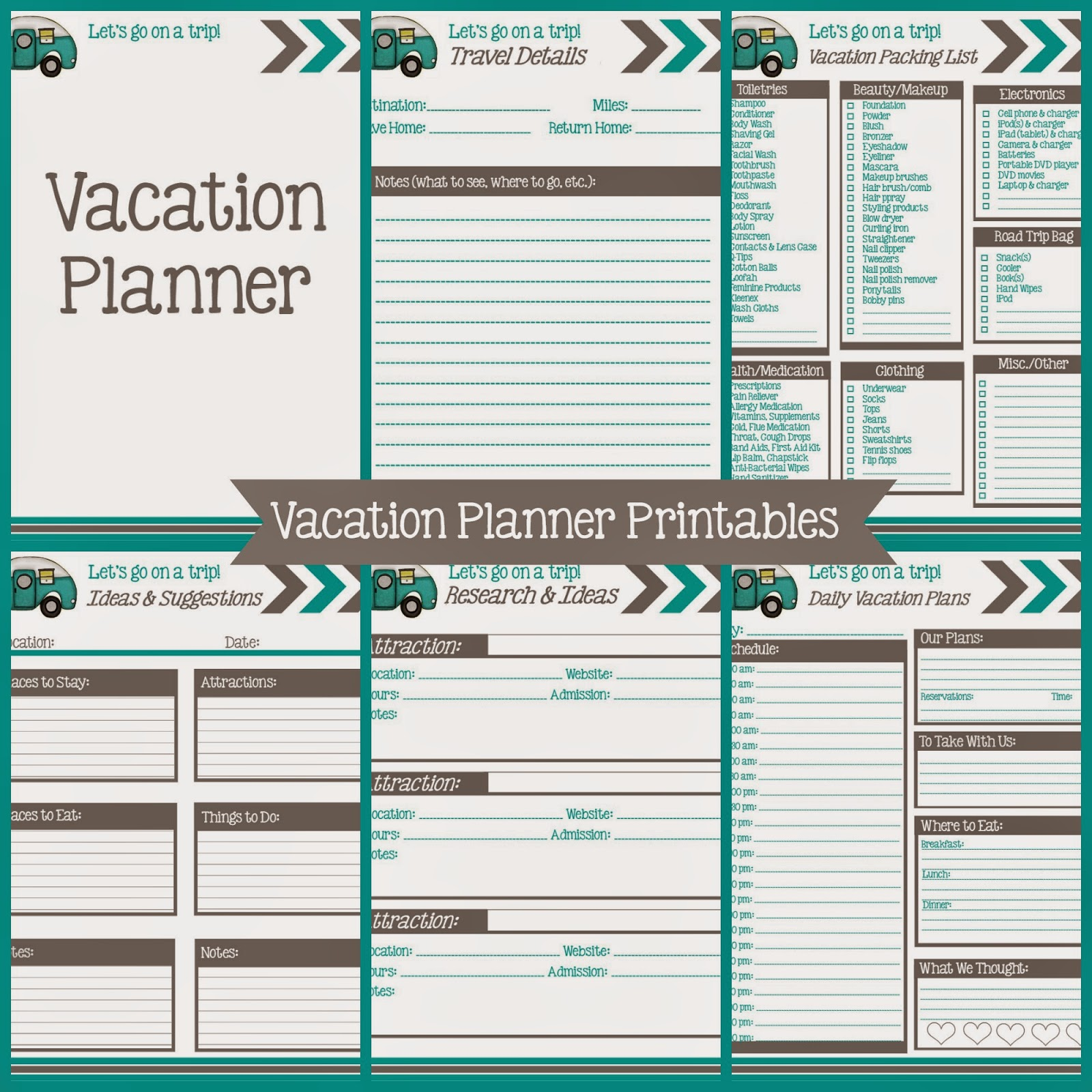 The Simply Everything Blog Vacation Planner Printables