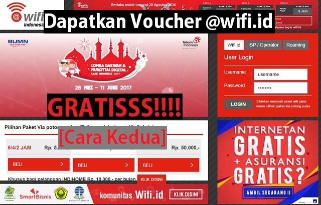 Cara mendapatkan voucher (akun) @wifi.id GRATIS (Cara Kedua) 1