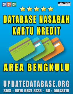 Jual Database Nasabah Kartu Kredit Bengkulu