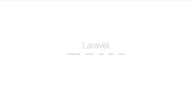 Świeża instalacja Laravel: domyślny widok powitania