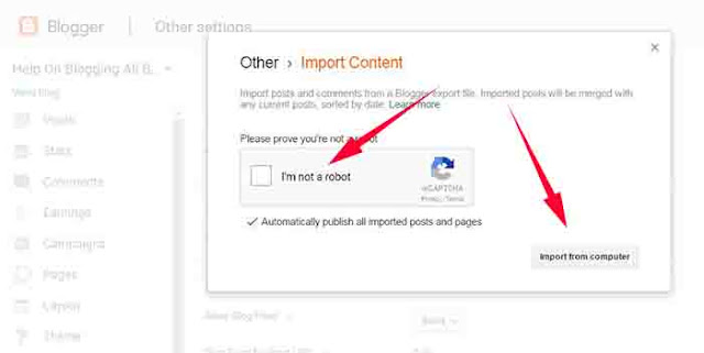 How To Import Blogger Posts