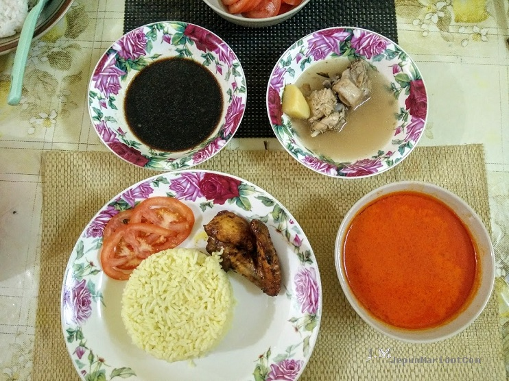 Nasi ayam cincai yang sangat simple