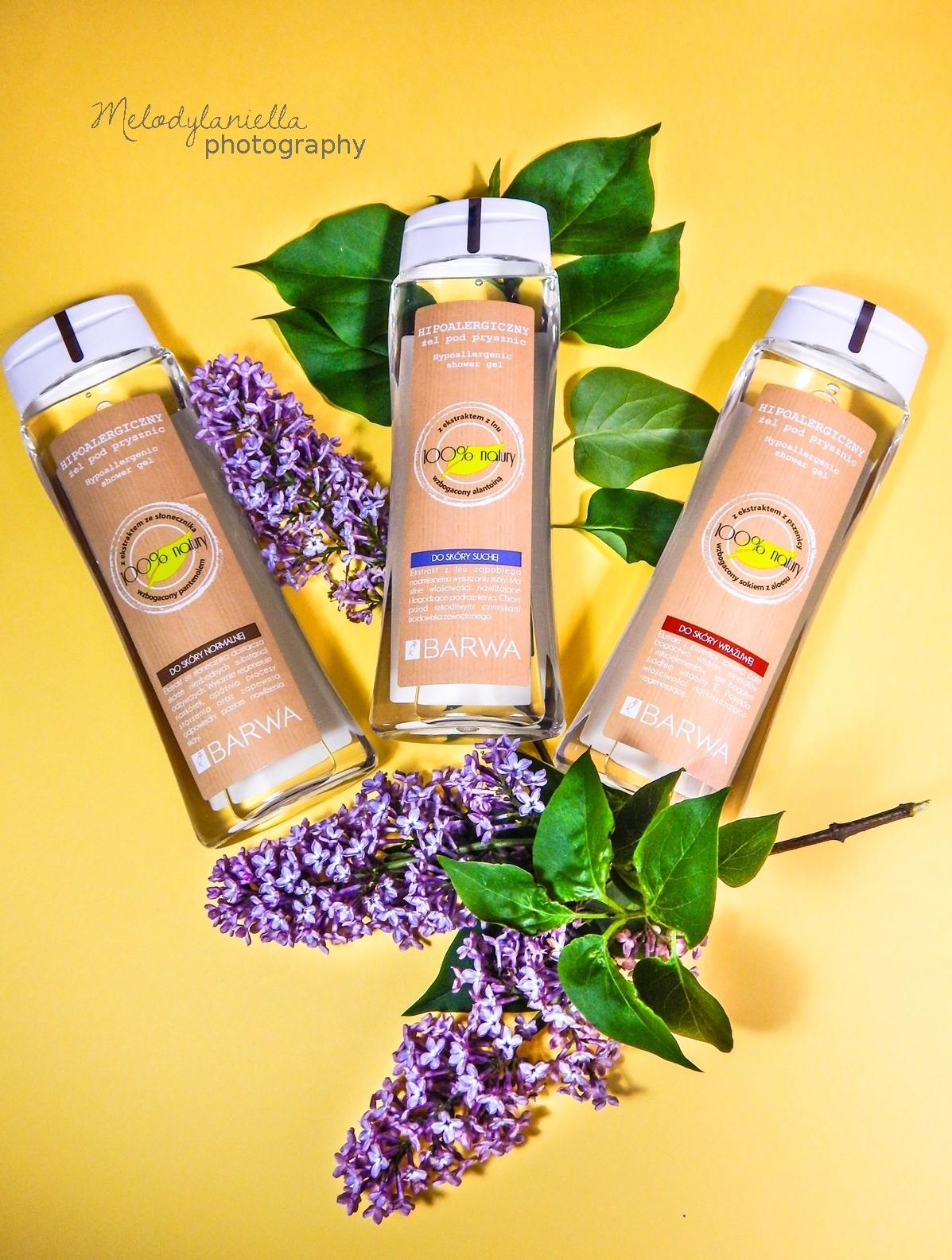 barwa żele żel pod prysznic żel do skóry suchej do skóry normalnej do skóry wrażliwej sto procent natury naturalne kosmetyki