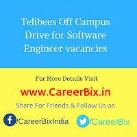Telibees Off Campus Drive for Software Engineer vacancies