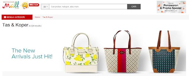 tempat pencarian tas murah mataharimall.com