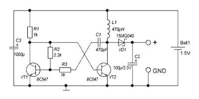 Wiring Circuit: DC to DC converter 1 5V to 3V Circuit Diagram