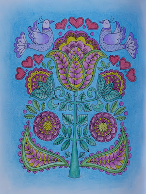 Adult coloring finished page