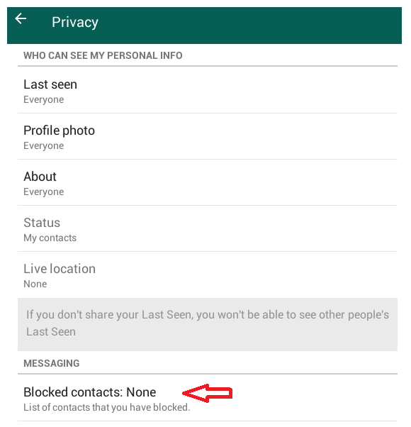 not blocked now on whatsapp confirmed