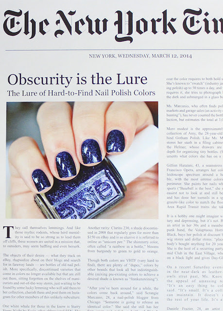 Essie Starry Starry Night craze analysis on New York Times