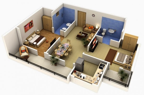2 Bedroom ApartmentHouse Plans Part FREE STUFFS FOR