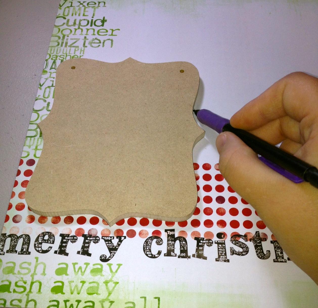 The Artsy Addict Merry Christmas Banner