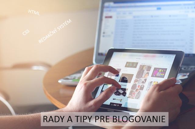 rady pre blogerov