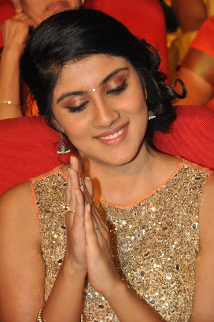 Dhanya Balakrishna Stills In Orange Dress