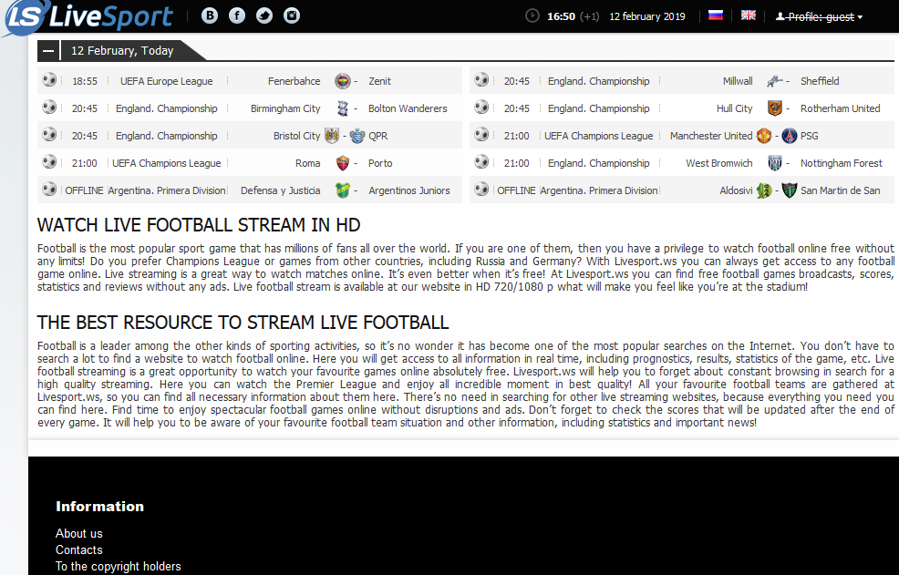 Top Websites To Watch/Stream Free Live Football Matches
