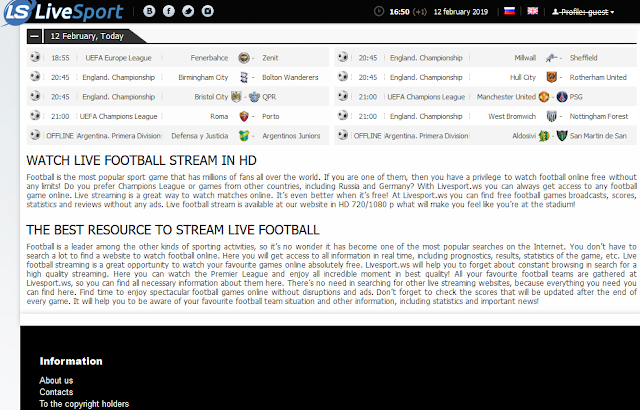 Livesport Websites To Watch Or Stream Free Live Football Matches Online