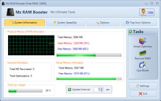 تنزيل برنامج تسريع الرامات والبروسيسور Mz RAM Booster