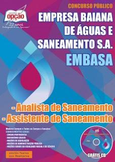 Apostila Embasa Concurso BA (PDF) Analista e Assistente de Saneamento